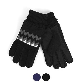 Men's Leather Non-Slip Grip Winter Gloves with Soft Acrylic Lining (Option: S)