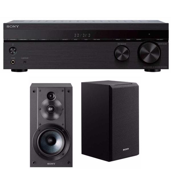 Sony STRDH590 5.2 multi-channel 4k HDR AV Receiver with Sony Bookshelf Speakers