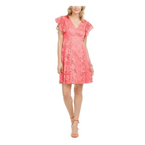 JESSICA HOWARD Coral Cap Sleeve Above The Knee Dress 6