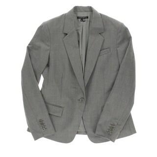 Theory Womens Gabe N Virgin Wool Notch Collar One-Button Blazer