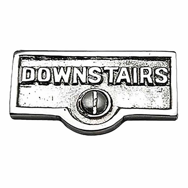 Switch Plate Tags DOWNSTAIRS Name Signs Labels Chrome Brass | Renovator's Supply