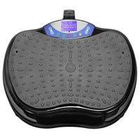 Dual Motor Mini Whole Body Vibration Plate Exercise Machine - Black