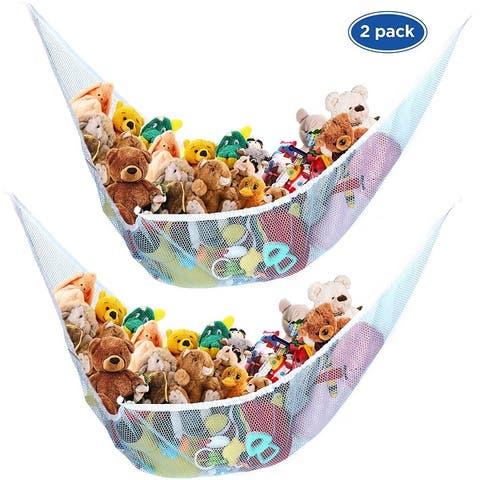 Toy Storage Mesh Hammock Neatly Organize Net for Stuffed Animals - 2