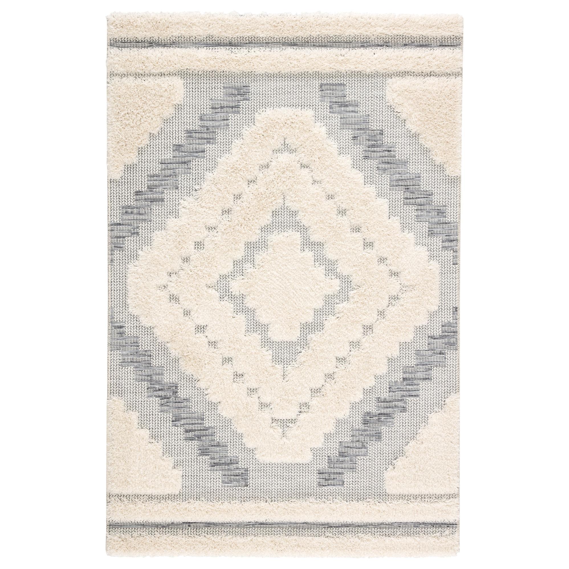 Kaya Indoor Outdoor Geometric Gray Cream Area Rug Overstock 26481501