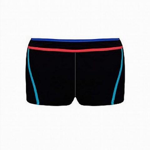 Profile by Gottex Black Womens Size 6 Boy Shorts Contrast-Trim Swimwear