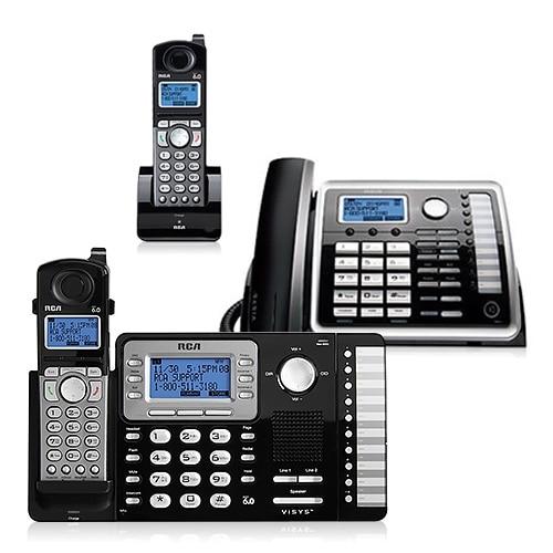 RCA ViSYS 25252 Bundle + 25055RE1 2-Line DECT 6.0 Corded-Cordless Phone Combo
