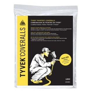Trimaco 14122 Tyvek Painters Coverall, Large