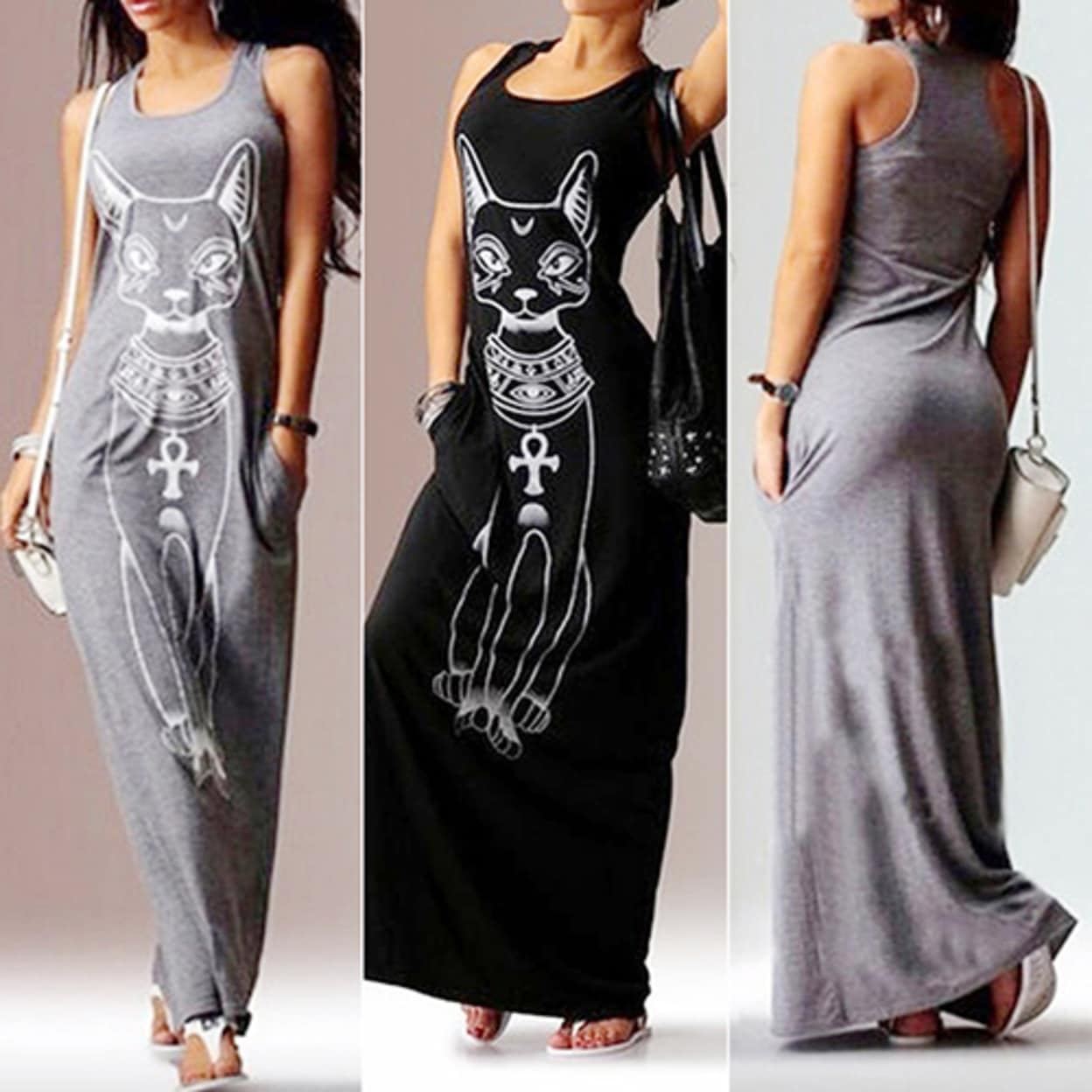 3141457d56 Shop Women's Summer Sexy Casual Boho Long Maxi Party Beach Dress Vest  Sundress - Free Shipping On Orders Over $45 - Overstock - 23018265