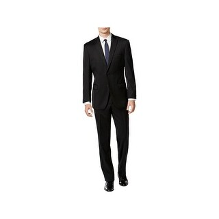 Calvin Klein Mens Two-Button Suit Wool Slim Fit