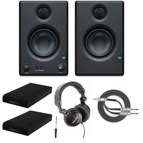 Presonus Eris-E3.5 Monitor with Isolation Pads and Studio Headphone