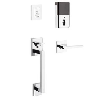 Baldwin 85390.BLENT Evolved Minneapolis Left Handed Single Cylinder Sectional Handleset with 5162 Interior Lever and Bluetooth