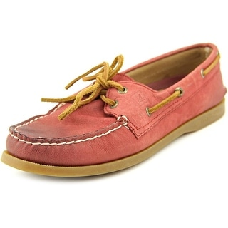 Sperry Top Sider A/O Weather Worn Women Moc Toe Leather Boat Shoe