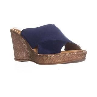 8b1e830a403ef2 Bella Vita Womens Ora-Italy Peep Toe Casual Mule Sandals. Quick View