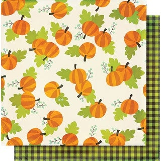 "Simple Sets Happy Halloween Double-Sided Cardstock 12""X12""-Pumpkin Patch"