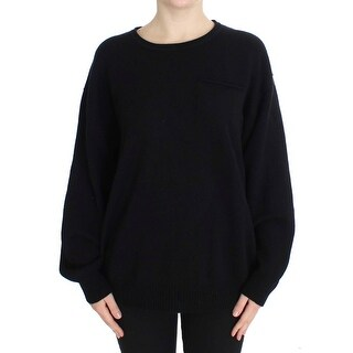Dolce & Gabbana Dolce & Gabbana Black Cashmere Crewneck Pullover Sweater
