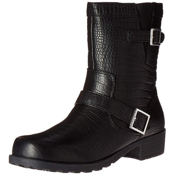 SoftWalk Womens Bellville Leather Closed Toe Ankle Fashion Boots