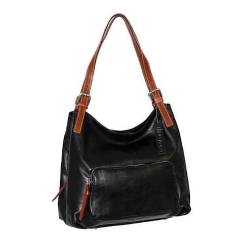 35c499930ae7 Nino Bossi Women's Isabel Leather Satchel Black - US Women's One Size ...
