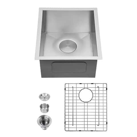 18 Gauge Stainless Steel Undermount Single Bowl Kitchen Sink