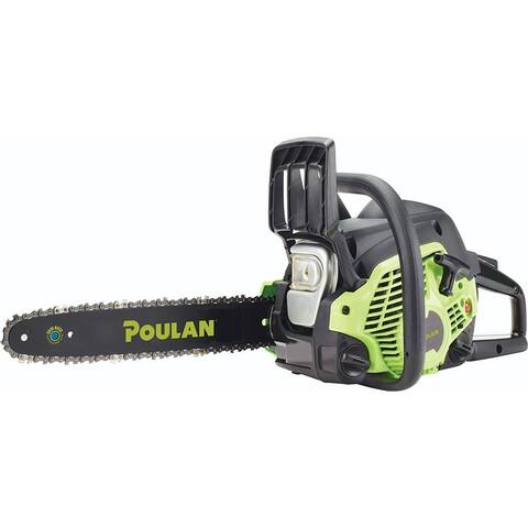"Poulan PL3314-967061601 Lightweight 33cc 2-Cycle Gas Chain Saw, 14"" Bar Length"