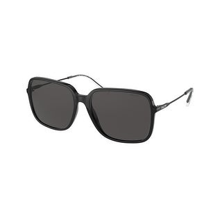 Link to Ralph RA5272 500187 57 Shiny Black Woman Square Sunglasses Similar Items in Women's Sunglasses