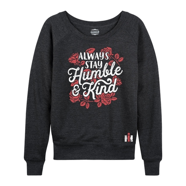 International Harvester™ - Always Stay Humble And Kind - Women's Lightweight French Terry Pullover. Opens flyout.