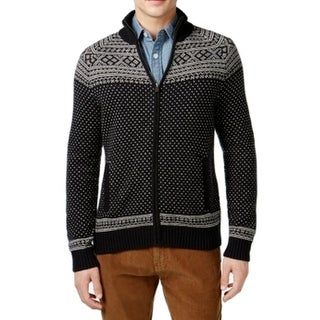 Tommy Hilfiger NEW Black Ivory White Mens Size 2XL Full Zip Sweater
