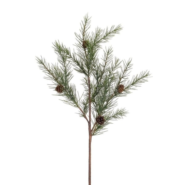 Club Pack of 12 Long Needle and Pine Cone Artificial Christmas Sprays 22""