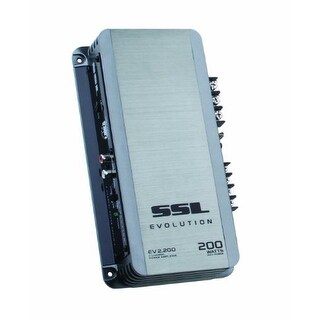 Sound Storm SSLEV2200G EVOLUTION 200-watts Full Range Class AB 2 Channel 2-8 Ohm Stable Amplifier