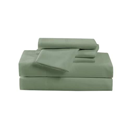 Cannon Heritage Solid 6 Piece Sheet Set (Includes Bonus Pillowcases)
