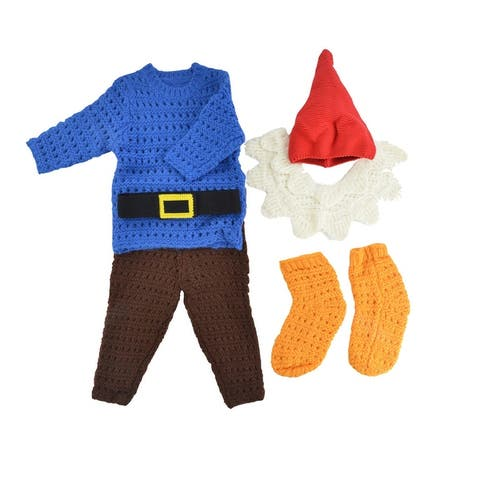 6PC Boys Cute Little Garden Gnome Halloween Costumes