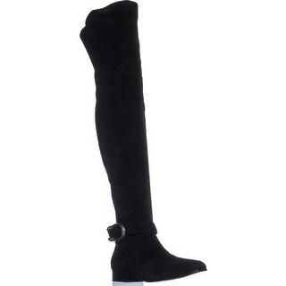 Gucci 432083 Square Toe Over The Knee Boots, Nero/Nero - 9 us / 39 eu