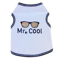 Mr. Cool Dog Tank Top - White - Large