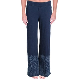 Lisa Todd Womens Lounge Pants Printed Wide Leg
