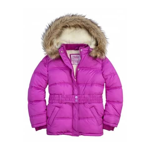 Justice Girls Faux Fur Puffer Jacket - 5