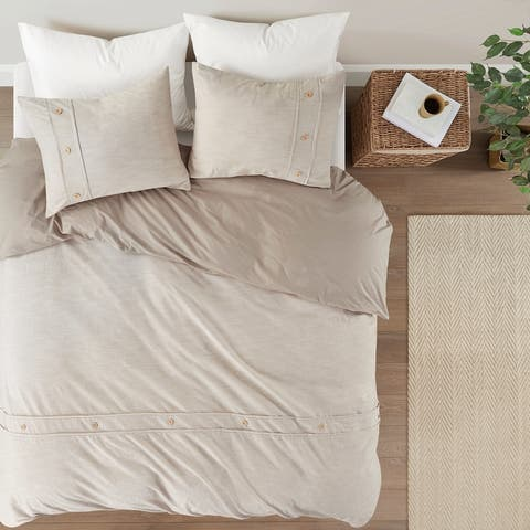 Blakely Organic Cotton Oversized Duvet Cover Set by Clean Spaces