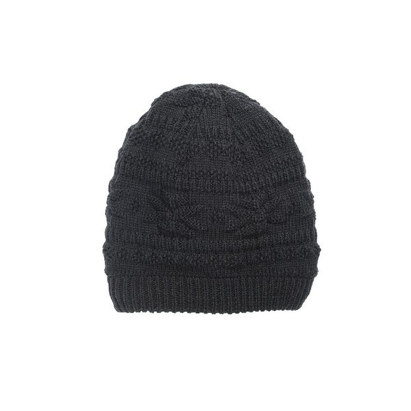 Shop Muk Luks Hat Mens Beanie Textured Knit Pattern One Size Free