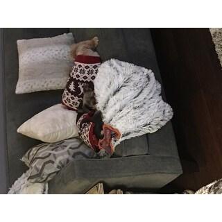 Chateau by Sheri Shag Faux Fur Frost Throw Blanket