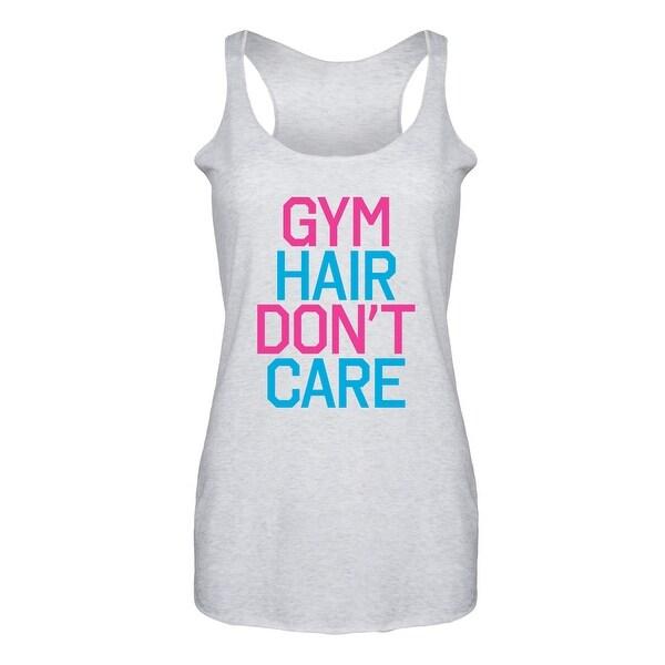 2f422c26 Shop Gym Hair Don't Care-Ladies Triblend Racerback Tank - Free ...