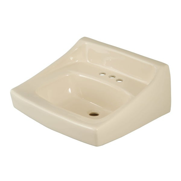 """Toto LT307.4 Reliance Commercial 21"""" Wall Mounted Bathroom Sink with 3 Faucet Holes Drilled and Overflow"""