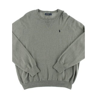 Polo Ralph Lauren Mens Big & Tall Pullover Sweater Monogram Crew Neck