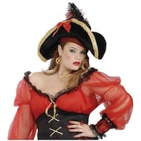 Buccaneer Lady Pirate Hat Adult Costume Accessory