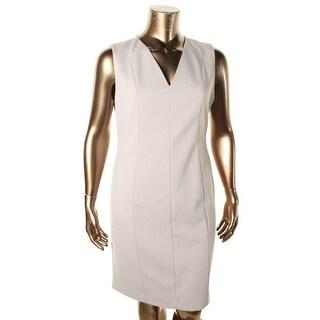T Tahari Womens Susan Wear to Work Dress Paneled V Neck