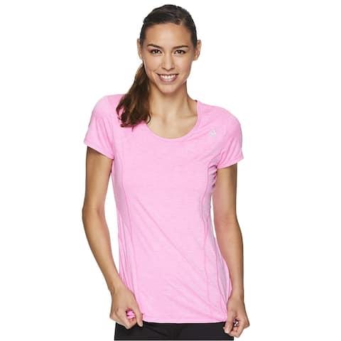 Reebok Womens Linear Marled Basic T-Shirt