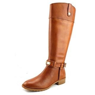 INC International Concepts Womens Fabbaa Leather Almond Toe Knee High Fashion...