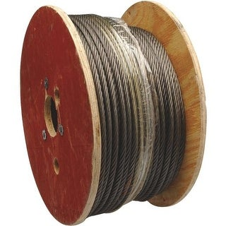 """Apex Cooper Campbell 500' 1/4"""" 6X19 Wire Rope 7008027 Unit: ROLL"""