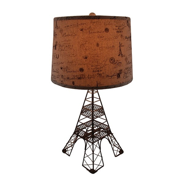 Eiffel tower shaped metal table lamp wdecorative paris theme shade eiffel tower shaped metal table lamp wdecorative paris theme shade bronze aloadofball Choice Image