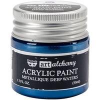 Finnabair Art Alchemy Acrylic Paint 1.7 Fluid Ounces-Metallique Deep Waters