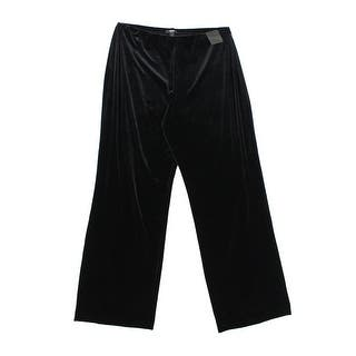 Alfani NEW Black Womens Size 2X Plus Straight Leg Velour Pull-On Pants https://ak1.ostkcdn.com/images/products/is/images/direct/085cfe46d5a2448dc5fc1cfa66ab483a41228858/Alfani-NEW-Black-Womens-Size-2X-Plus-Straight-Leg-Velour-Pull-On-Pants.jpg?impolicy=medium