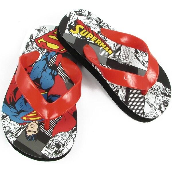 Warner Bros Superman Sus100 Flip Flop - Red - 7 m us toddler
