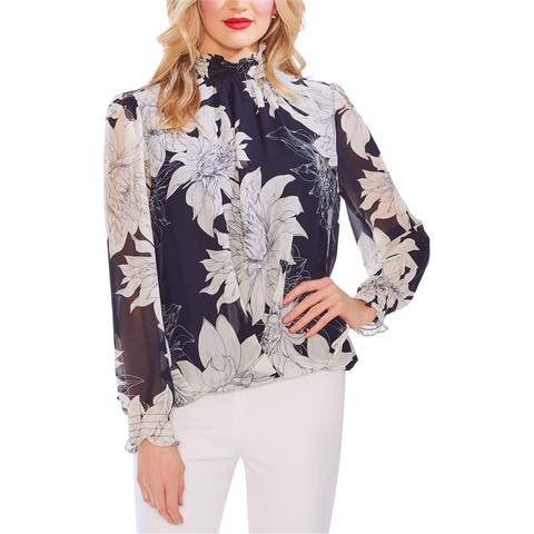 Vince Camuto Womens Chiffon Pullover Blouse